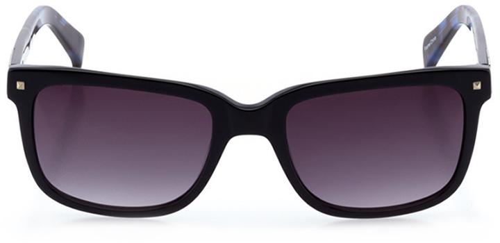 zurich: men's square sunglasses in black - front view