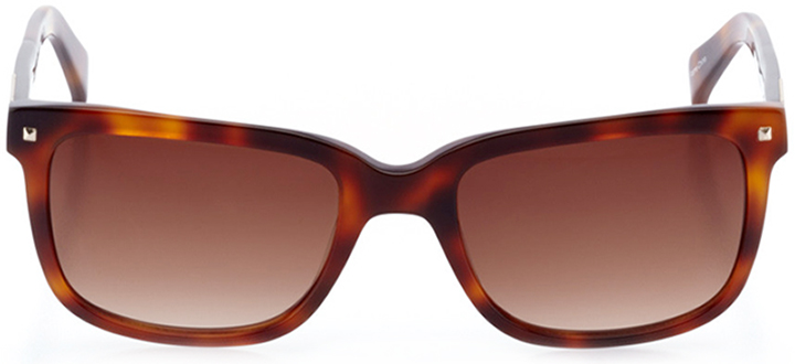 zurich: men's square sunglasses in tortoise - front view