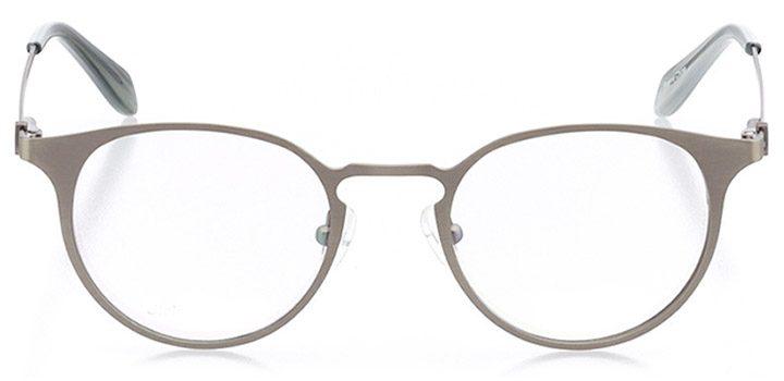 vaduz: unisex round eyeglasses in gray - front view