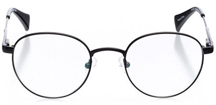 st. gallen: men's round eyeglasses in black - front view