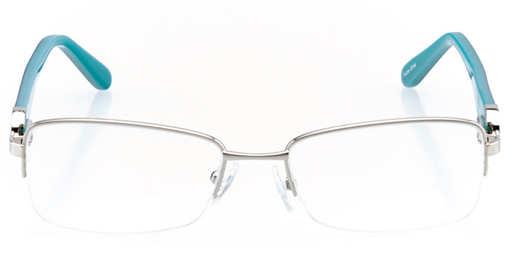 strasbourg: women's rectangle eyeglasses in silver - front view