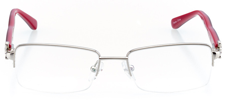 bordeaux: women's rectangle eyeglasses in purple - front view