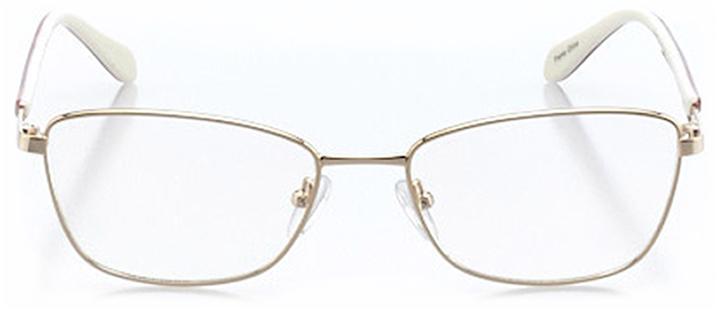 saint-denis: women's cat eye eyeglasses in gold - front view
