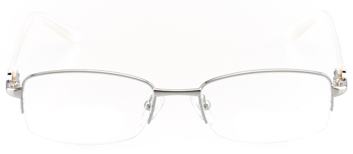 talence: women's rectangle eyeglasses in silver - front view