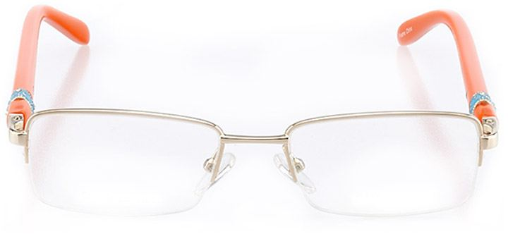 lillie: women's rectangle eyeglasses in gold - front view