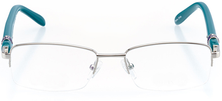 lillie: women's rectangle eyeglasses in silver - front view