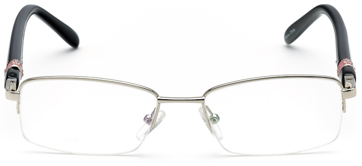 lillie: women's rectangle eyeglasses in black - front view