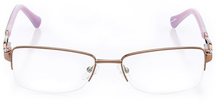 cholet: women's rectangle eyeglasses in pink - front view