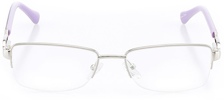 cholet: women's rectangle eyeglasses in purple - front view
