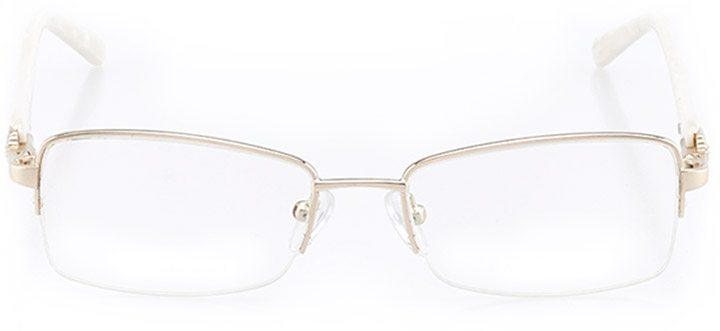 berea: women's rectangle eyeglasses in gold - front view