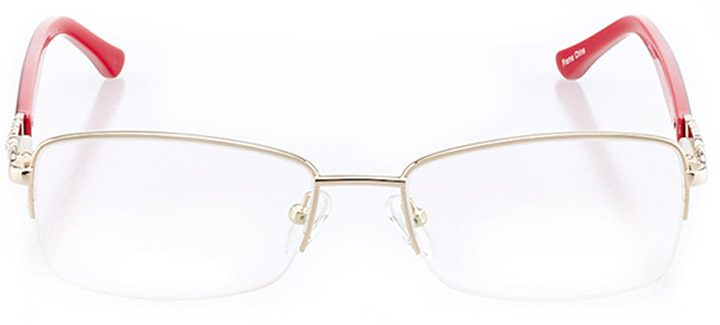 toulon: women's rectangle eyeglasses in gold - front view