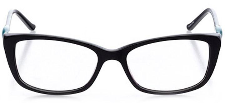 aix-en-provence: women's cat eye eyeglasses in black - front view