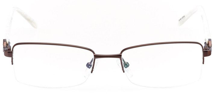 calistoga: women's rectangle eyeglasses in brown - front view