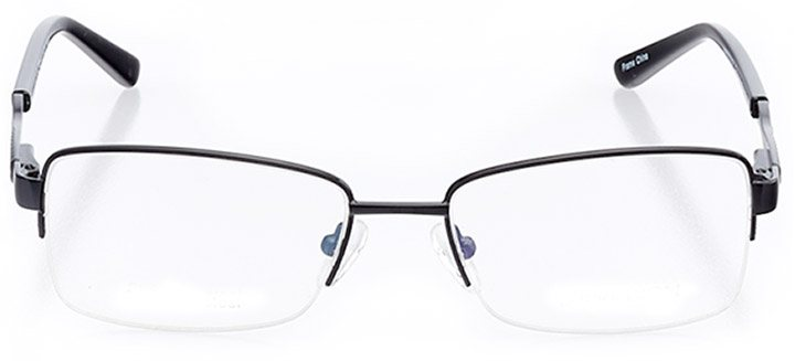newport news: women's rectangle eyeglasses in black - front view