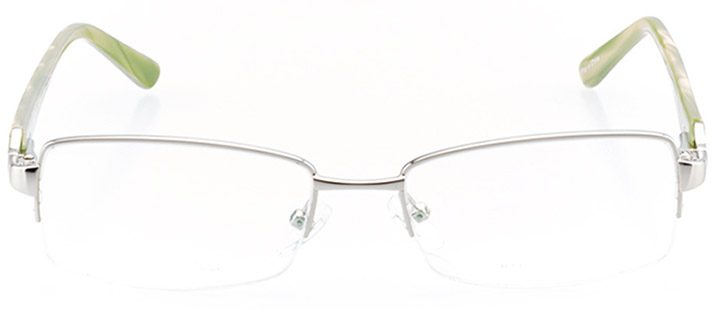 santa rosa: women's rectangle eyeglasses in green - front view