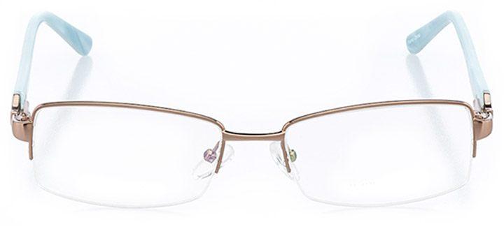 santa rosa: women's rectangle eyeglasses in brown - front view