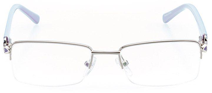 sunnyvale: women's rectangle eyeglasses in blue - front view