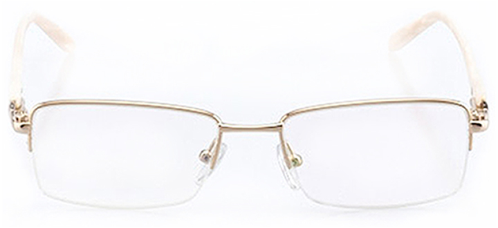 chattanooga: women's rectangle eyeglasses in gold - front view