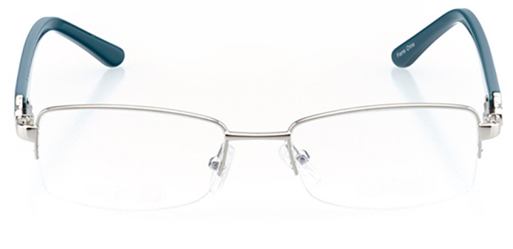 tempe: women's rectangle eyeglasses in blue - front view