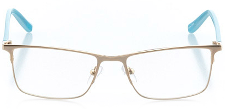 toronto: women's rectangle eyeglasses in gold - front view