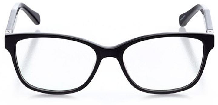 waldorf: women's rectangle eyeglasses in black - front view