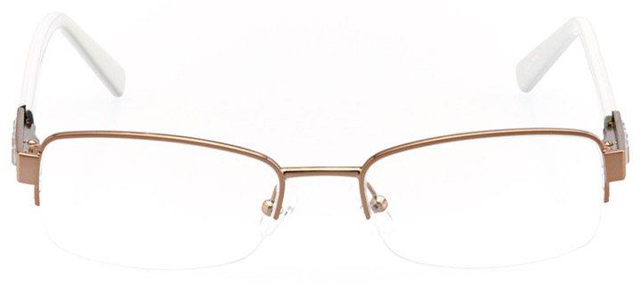 marana: women's rectangle eyeglasses in brown - front view