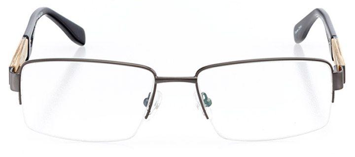 louisville: men's rectangle eyeglasses in gray - front view