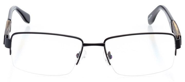 louisville: men's rectangle eyeglasses in black - front view