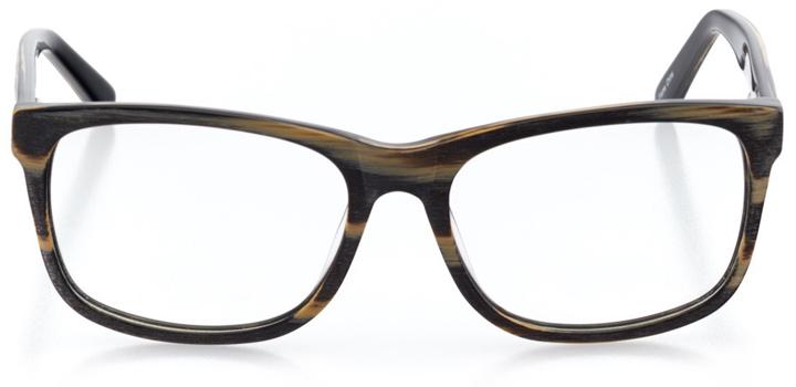 oulu: men's square eyeglasses in black - front view