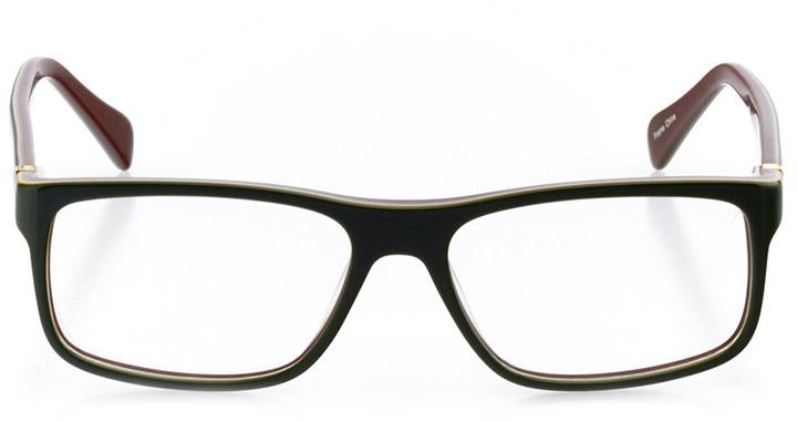 sacramento: men's square eyeglasses in brown - front view