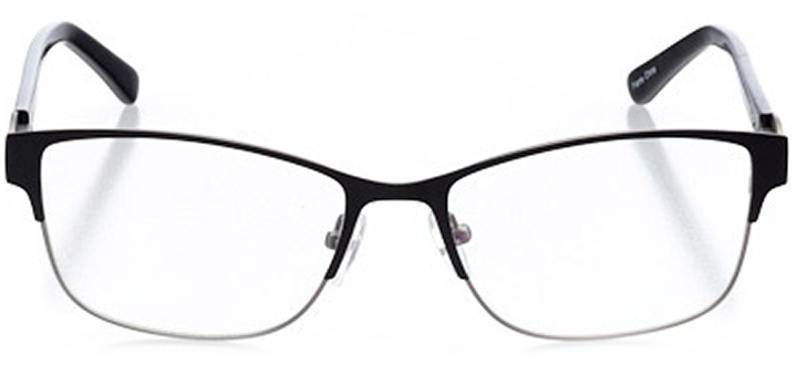 vernier: women's cat eye eyeglasses in black - front view