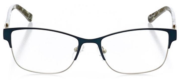 vernier: women's cat eye eyeglasses in blue - front view