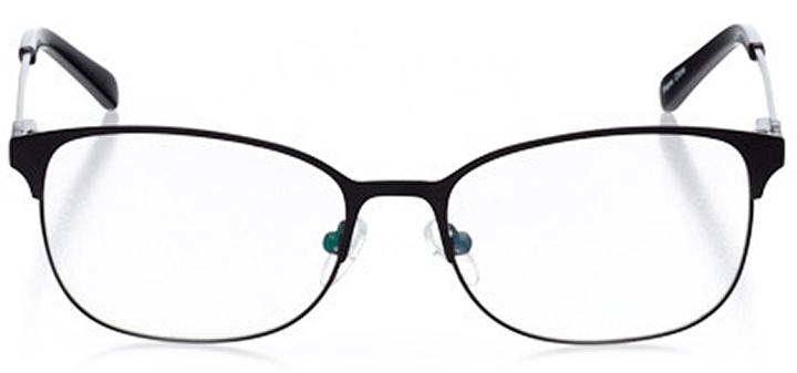 bellinzona: women's oval eyeglasses in black - front view