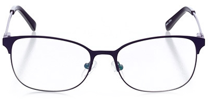 bellinzona: women's oval eyeglasses in purple - front view