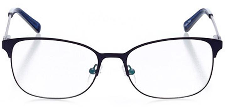 bellinzona: women's oval eyeglasses in blue - front view