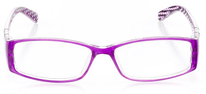 naples: women's rectangle eyeglasses in purple - front view