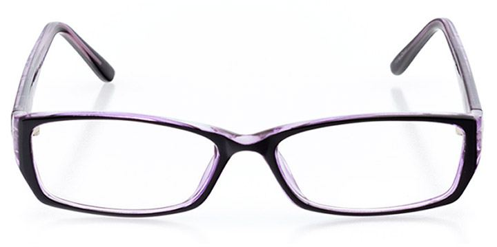 long island: women's rectangle eyeglasses in purple - front view