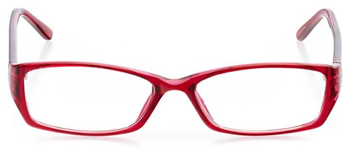 long island: women's rectangle eyeglasses in pink - front view