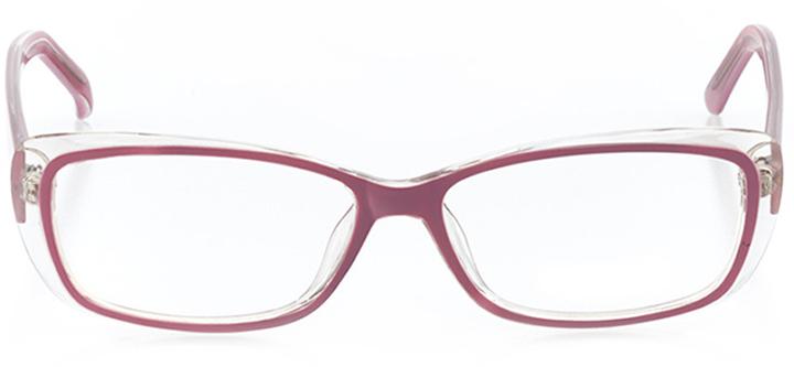 elizabeth: women's rectangle eyeglasses in purple - front view