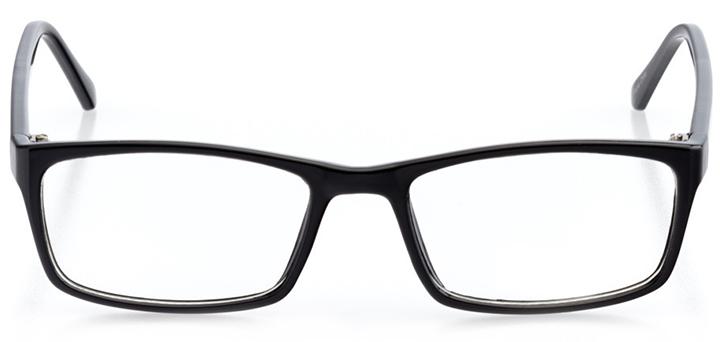 austin: women's rectangle eyeglasses in black - front view