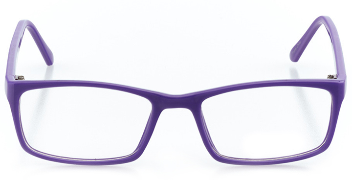 austin: women's rectangle eyeglasses in purple - front view