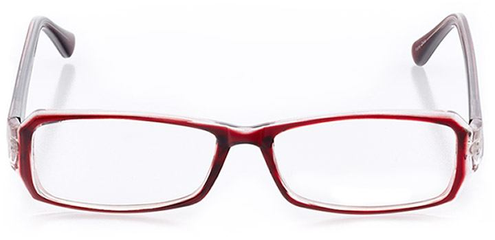 santa barbara: women's rectangle eyeglasses in red - front view