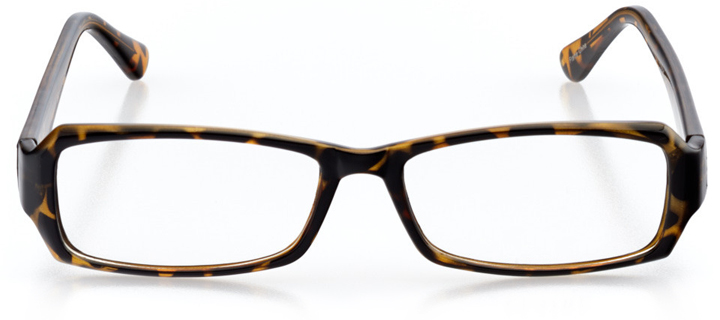 santa barbara: women's rectangle eyeglasses in tortoise - front view