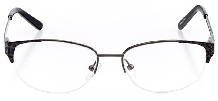 leticia: women's oval eyeglasses in black - front view