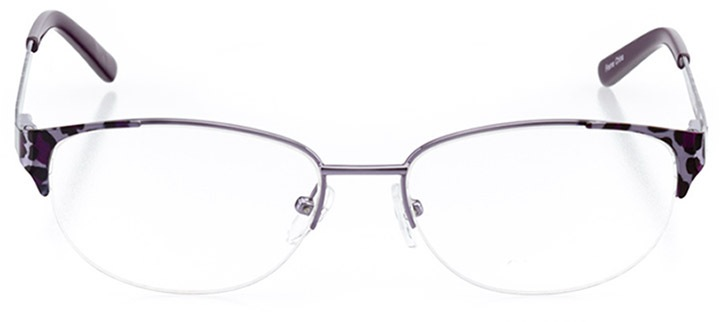 leticia: women's oval eyeglasses in purple - front view