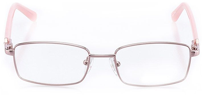 charleston: women's square eyeglasses in pink - front view