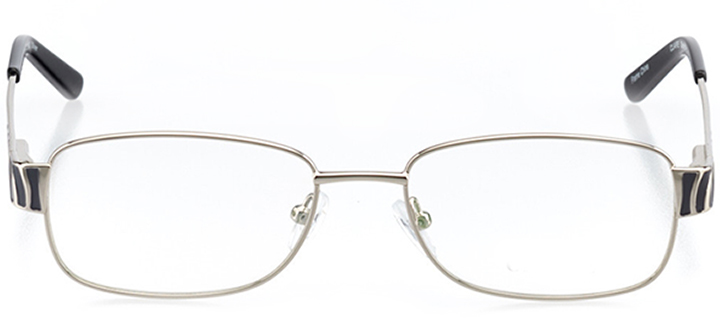 santa fe: women's rectangle eyeglasses in silver - front view