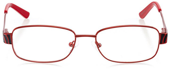 moab: women's rectangle eyeglasses in red - front view