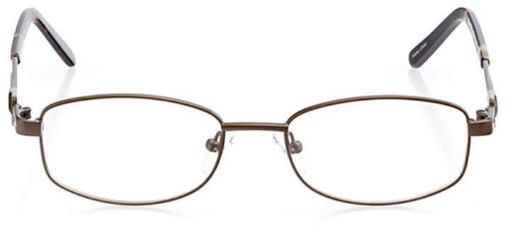 barre: women's rectangle eyeglasses in brown - front view