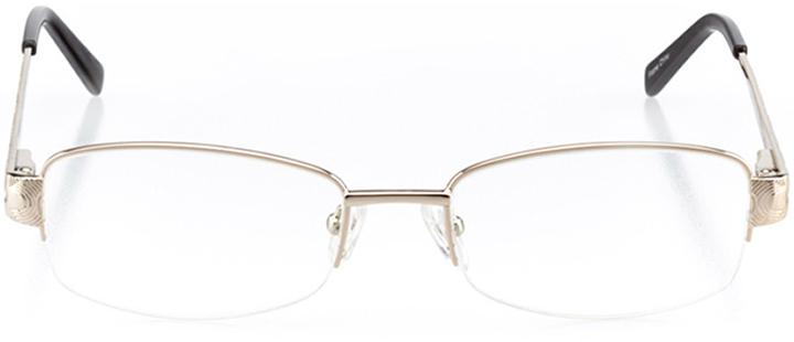 golden: women's rectangle eyeglasses in gold - front view